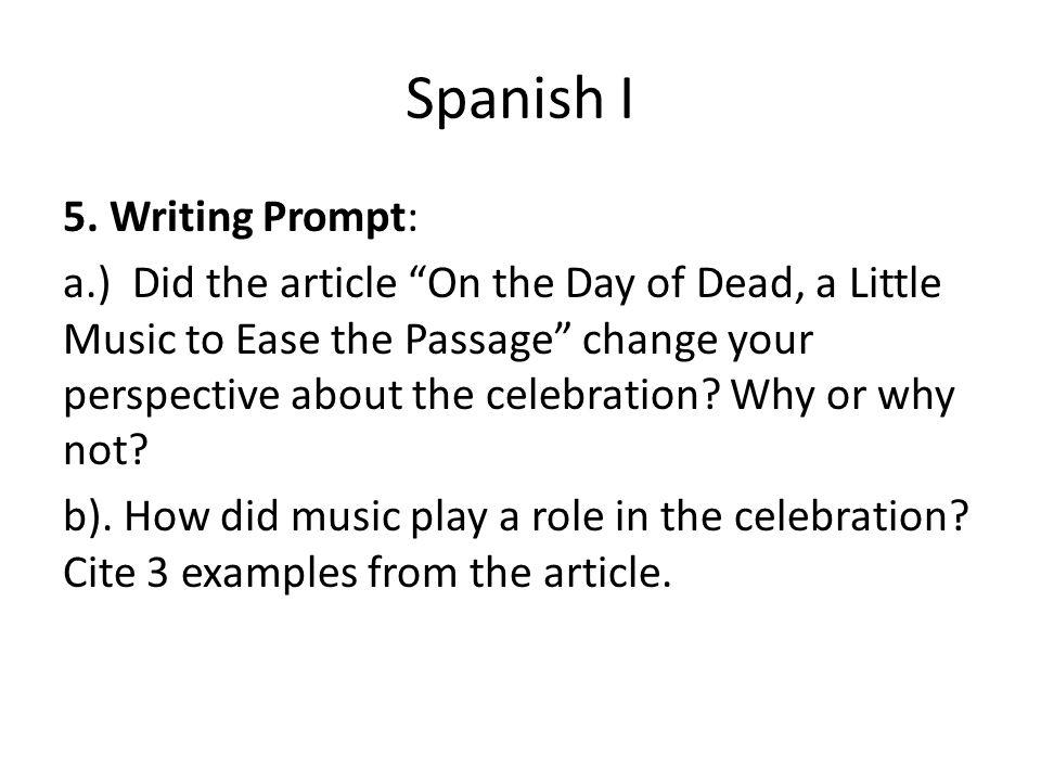 Spanish I 5.