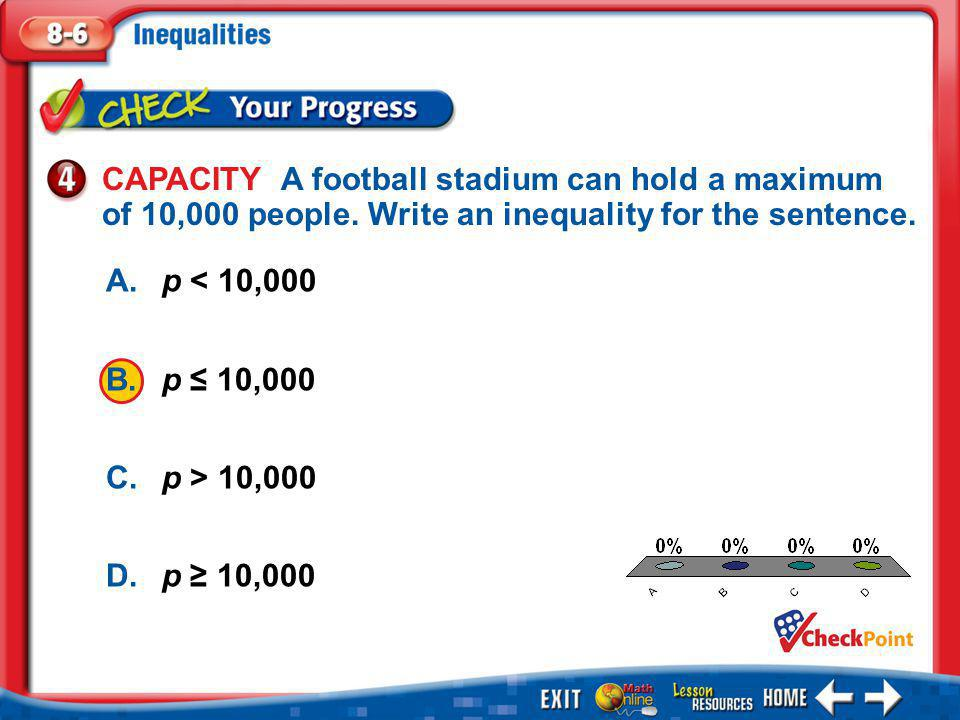 Example 5 Determine the Truth of an Inequality For the given value, state whether the inequality is true or false.