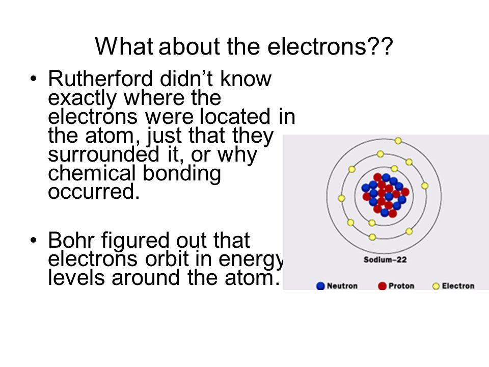 What about the electrons?.