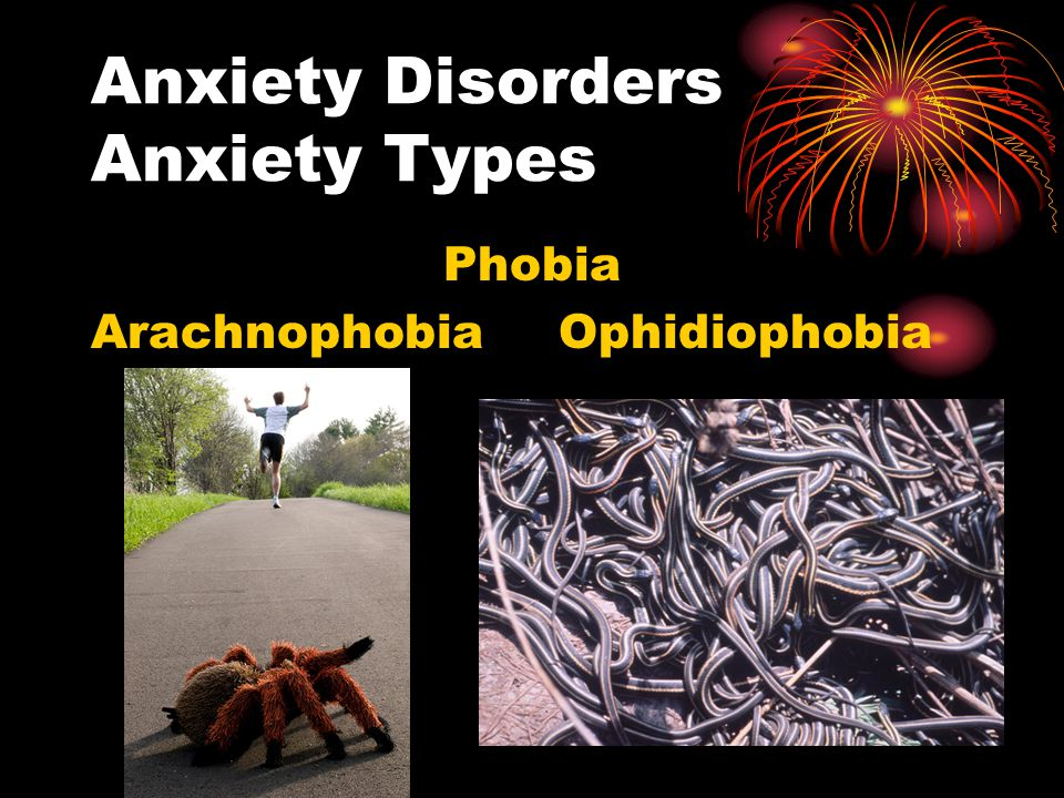 Anxiety Disorders Anxiety Types Phobia Arachnophobia Ophidiophobia