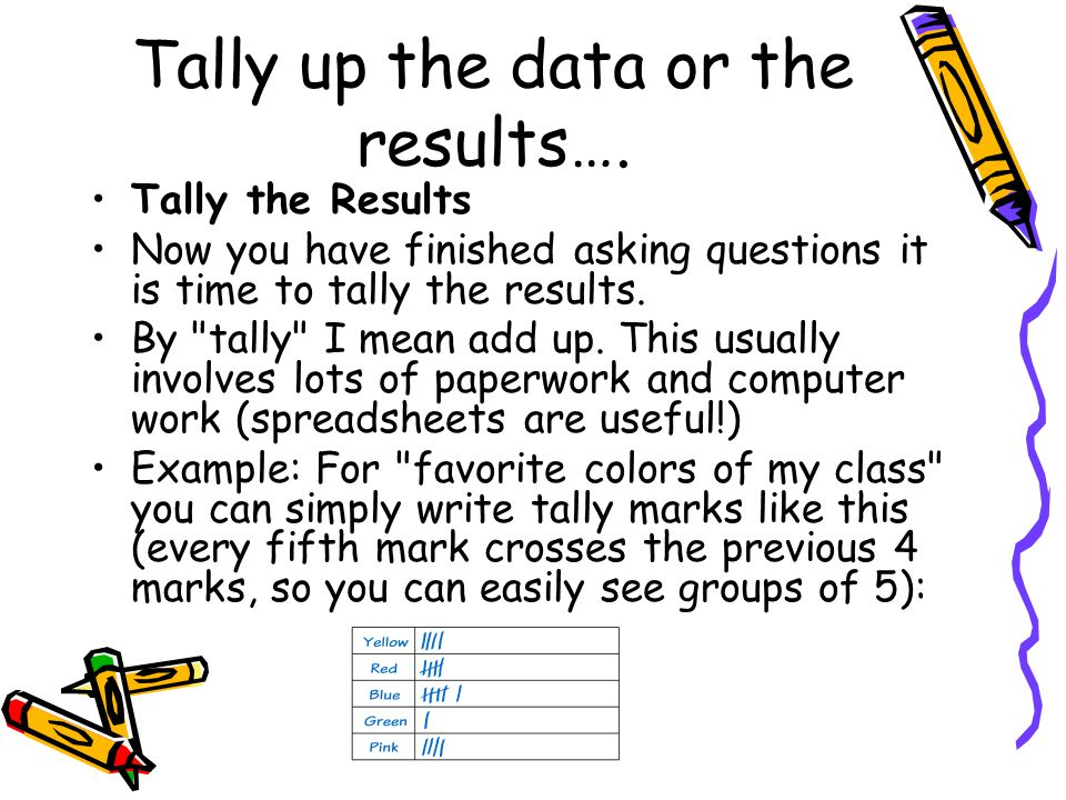 The Results….Look at your survey results for trends and patterns.
