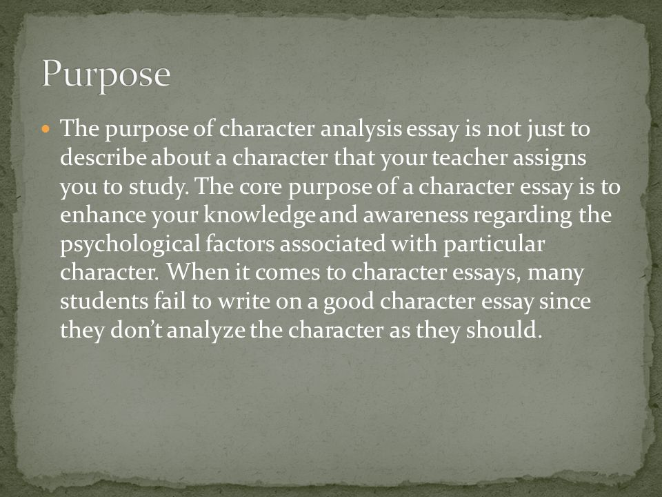 Students have 2 choices to write character analysis essays.
