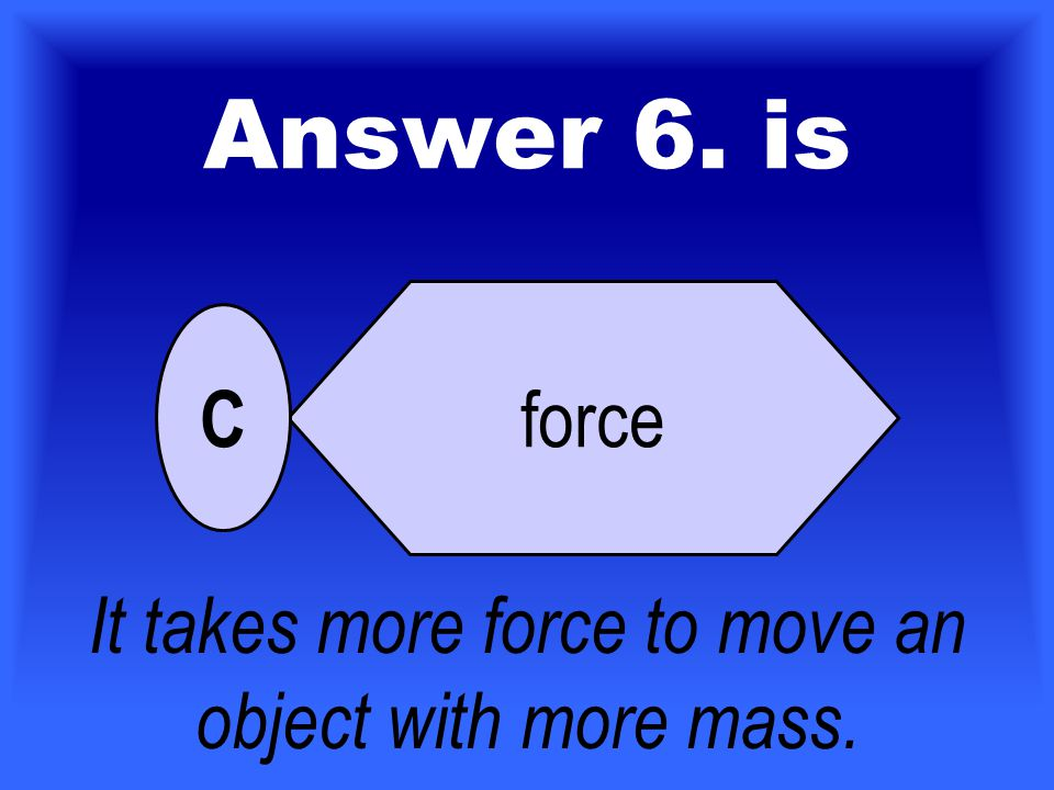For 60 Points Who Wants To Be A Scientist ? 6. This cartoon shows that to move an object with more mass, you need to apply more _________. friction sp