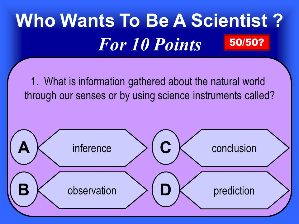 Who Wants To Be A Scientist.
