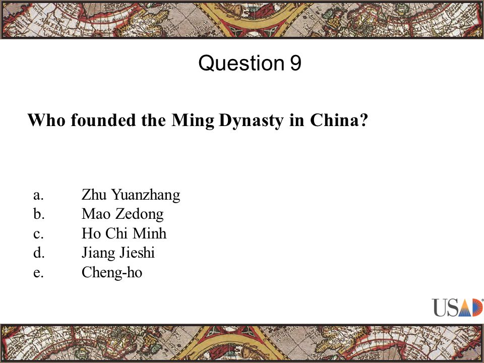 Who founded the Ming Dynasty in China.