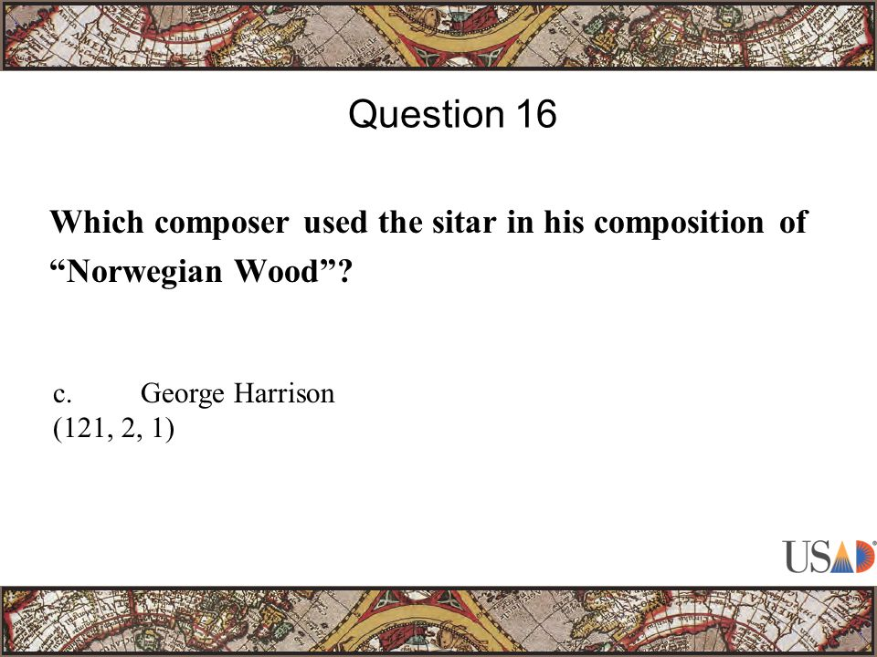 Which composer used the sitar in his composition of Norwegian Wood .