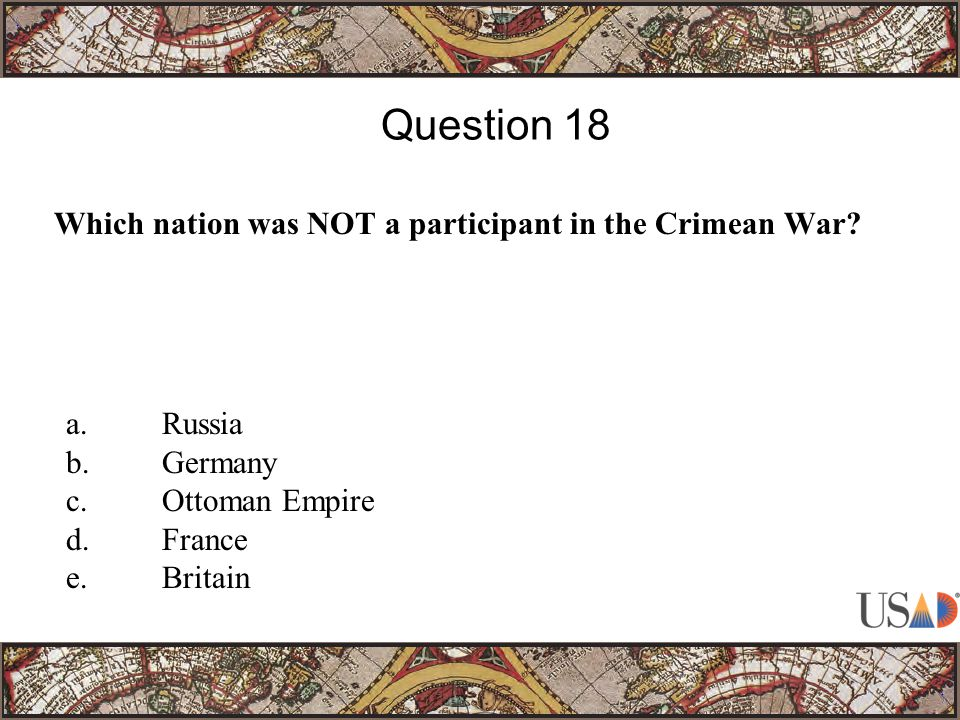 Which nation was NOT a participant in the Crimean War.