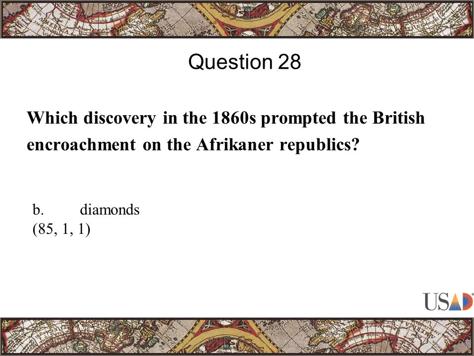 Which discovery in the 1860s prompted the British encroachment on the Afrikaner republics.