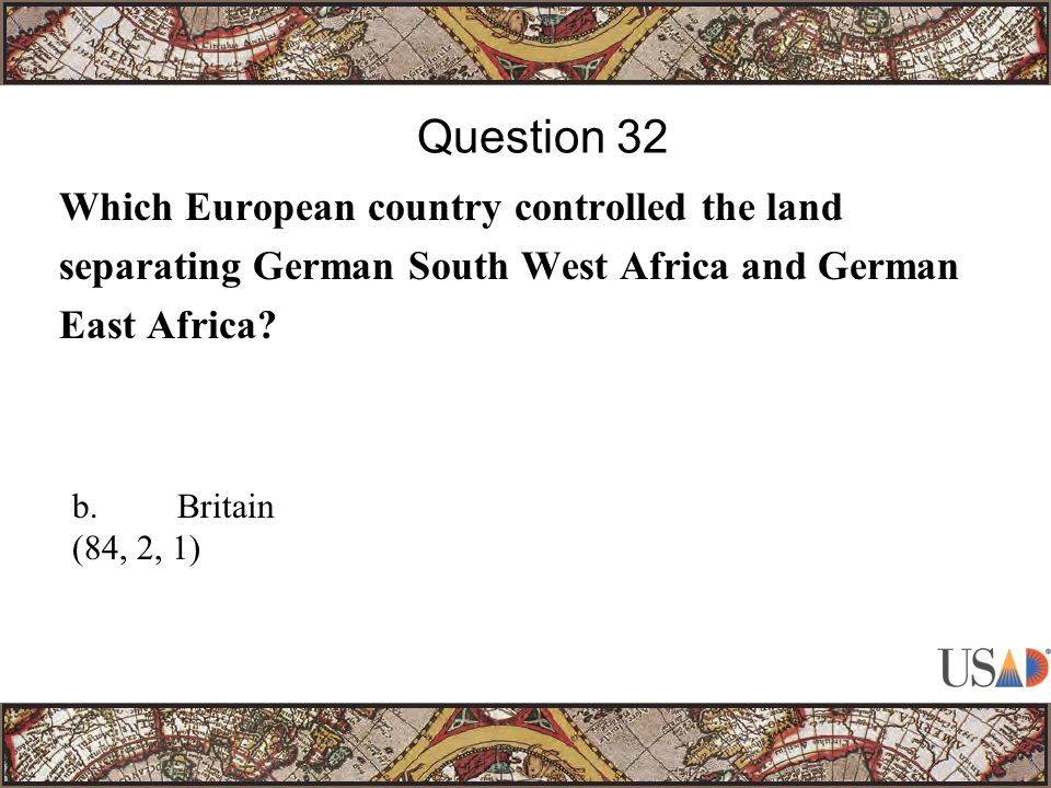 Which European country controlled the land separating German South West Africa and German East Africa.
