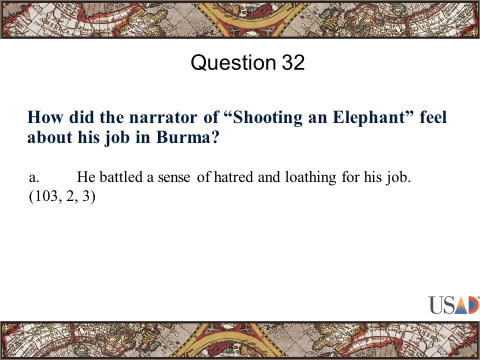 How did the narrator of Shooting an Elephant feel about his job in Burma.