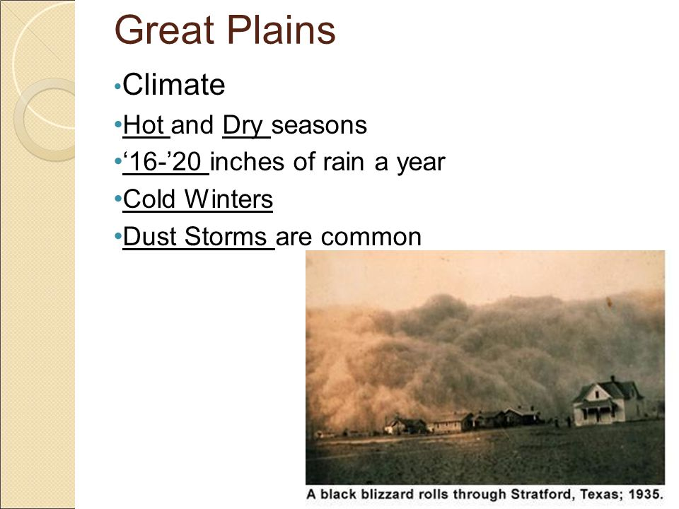 Great Plains Human Characteristics Cities (Lubbock, Amarillo, Midland, Odessa) Call it the 'Panhandle'