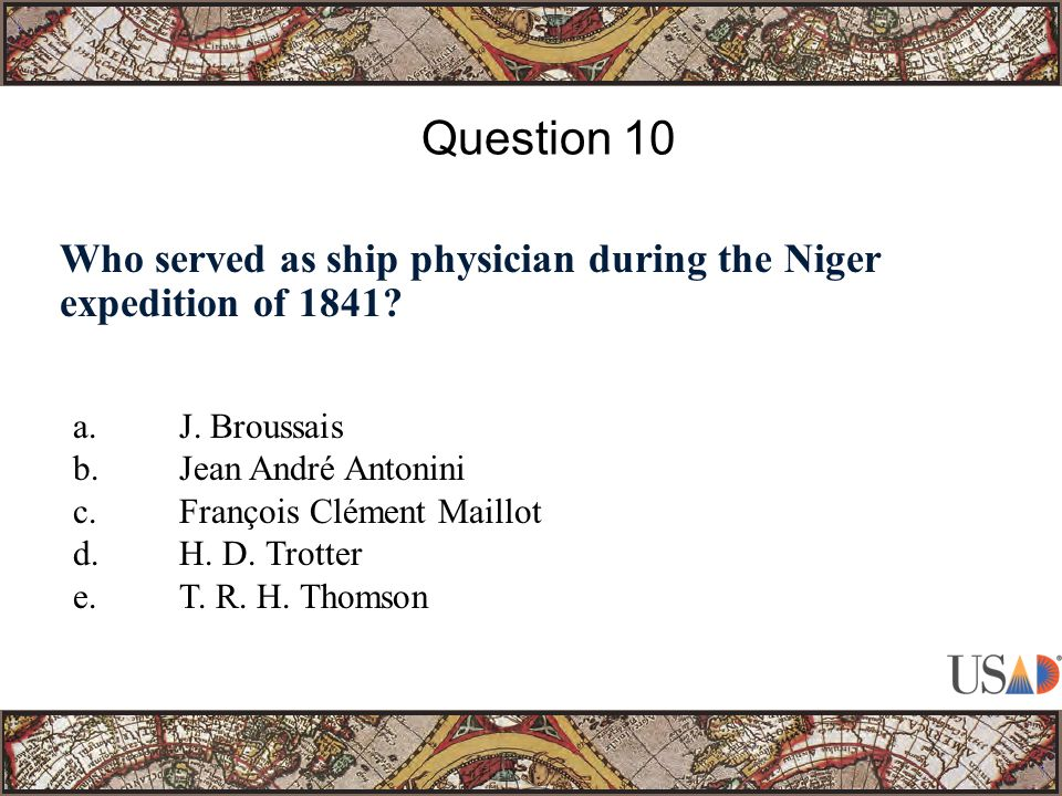 Who served as ship physician during the Niger expedition of 1841.