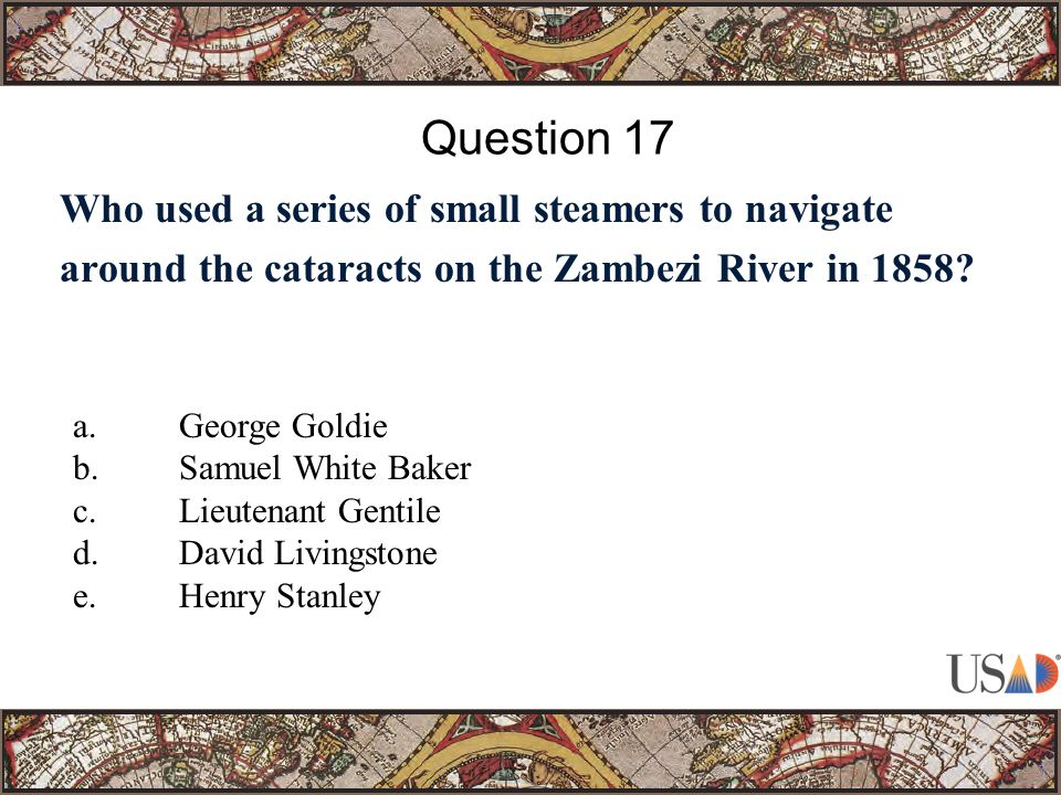 Who used a series of small steamers to navigate around the cataracts on the Zambezi River in 1858.