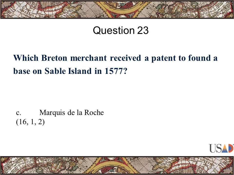 Which Breton merchant received a patent to found a base on Sable Island in 1577.