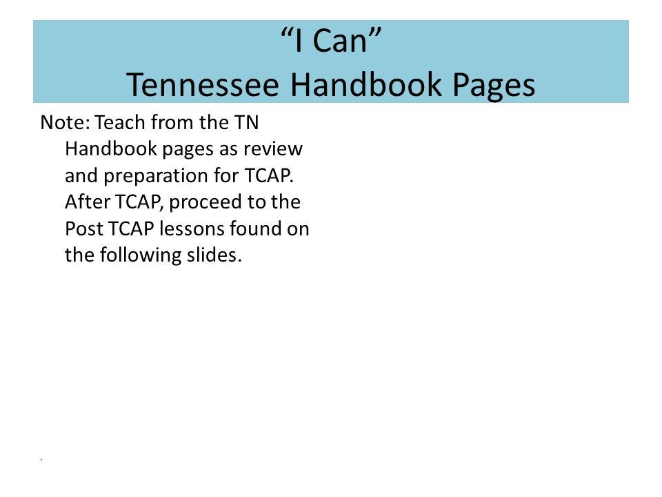 I Can Post TCAP: 7.1, 7.2  I can solve problems involving the addition, subtraction, multiplication, and division of decimals.