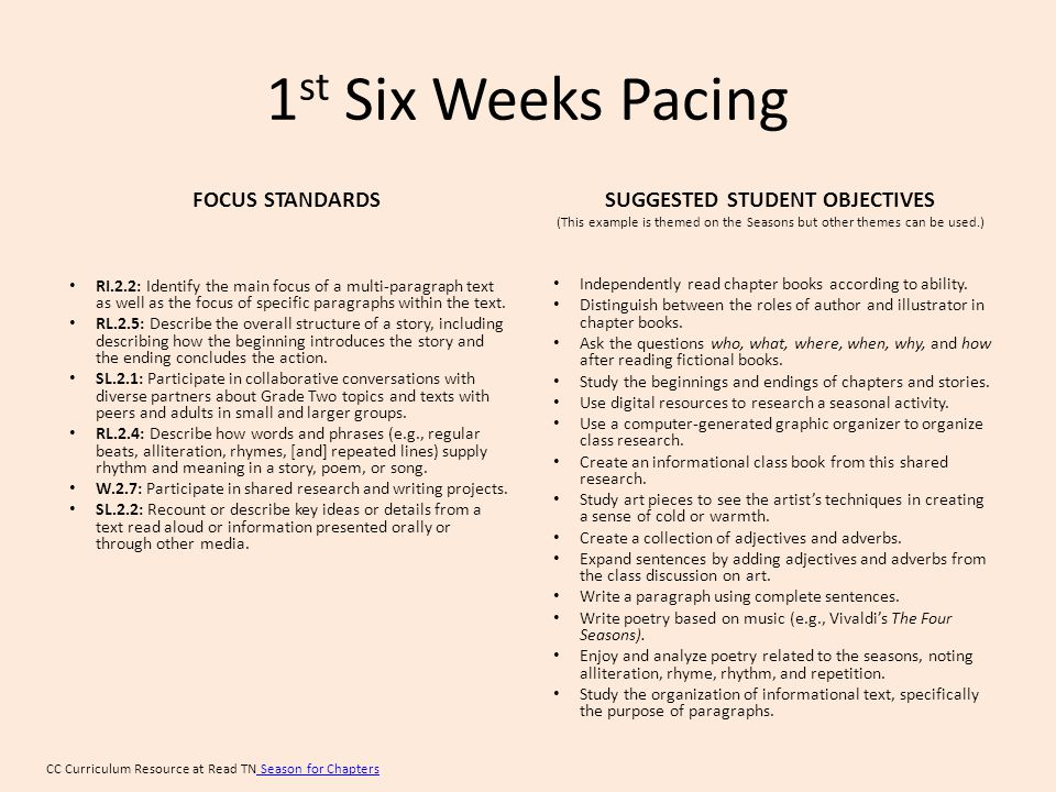 2 nd Six Weeks Pacing FOCUS STANDARDS RL.2.9: Compare and contrast two or more versions of the same story by different authors or from different cultures.