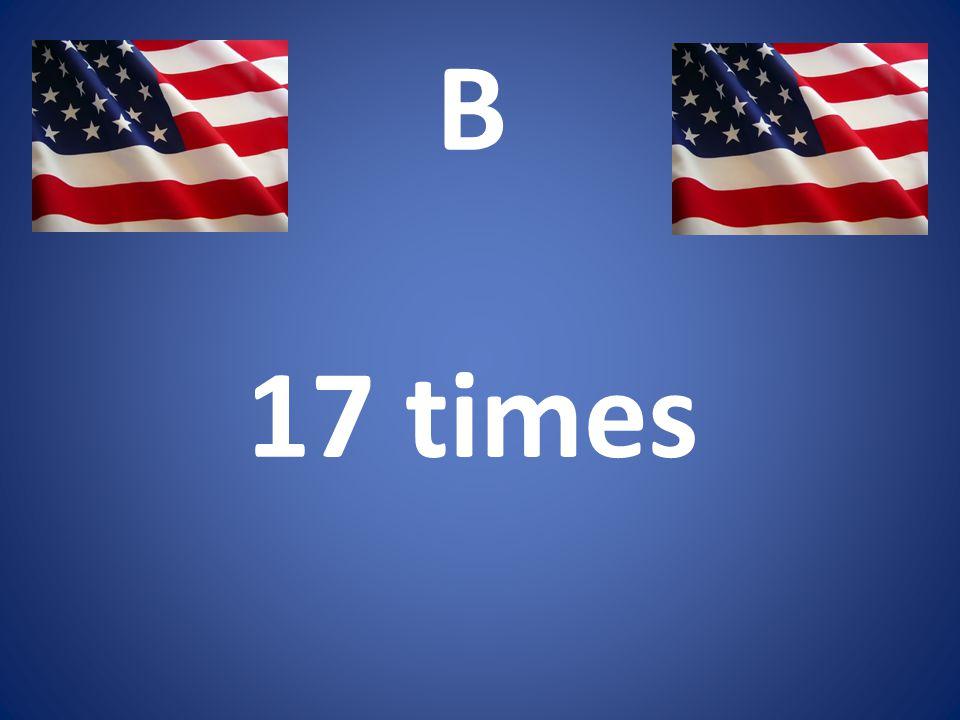 B 17 times