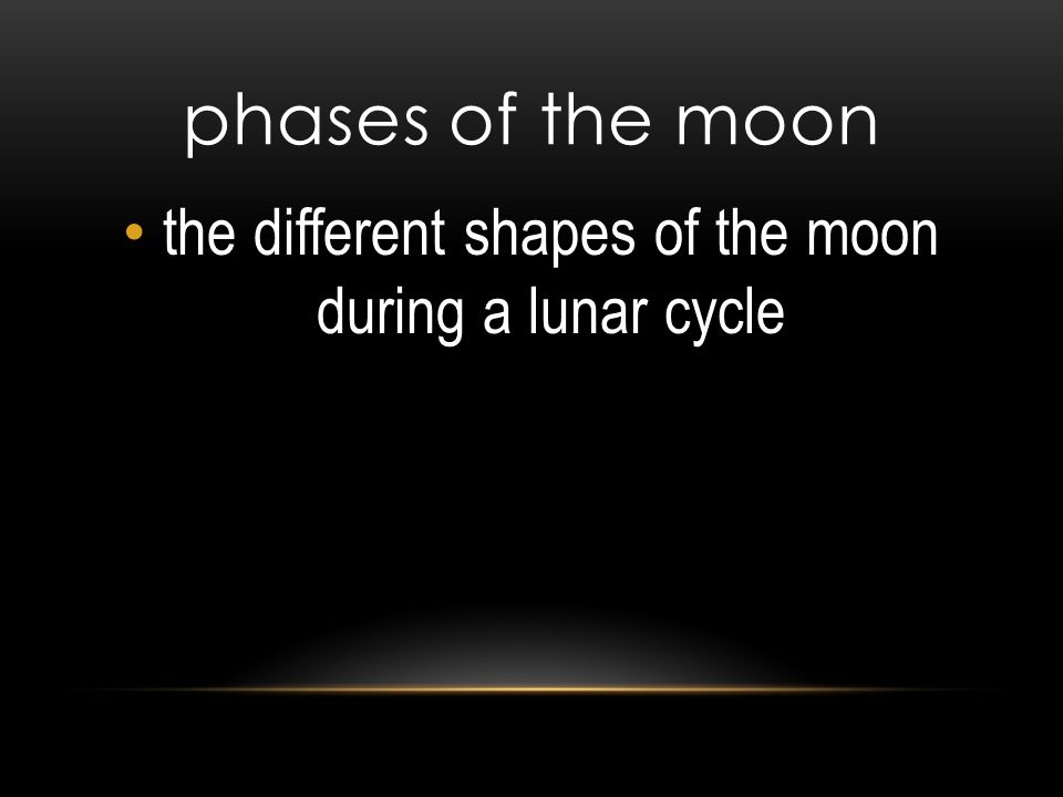 phases of the moon the different shapes of the moon during a lunar cycle