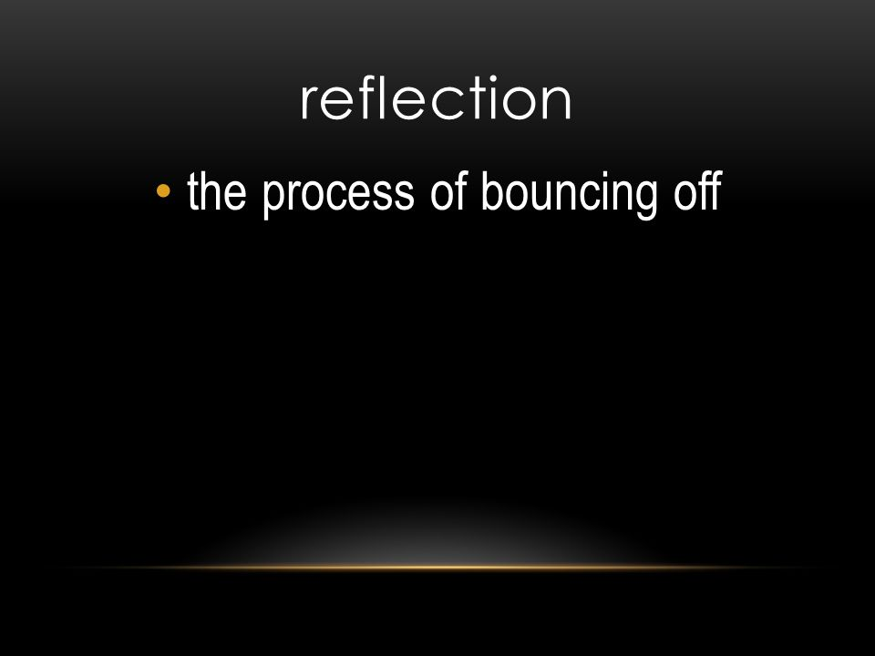 reflection the process of bouncing off