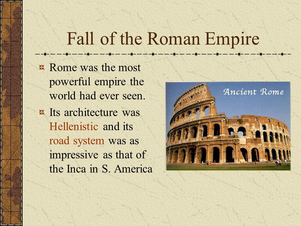 Fall of Rome Rome was besieged by various tribes from modern day Germany and France.