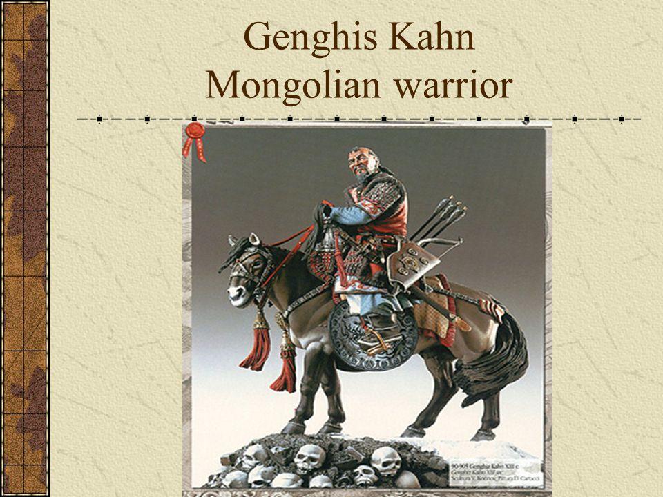 Genghis Kahn Mongolian warrior