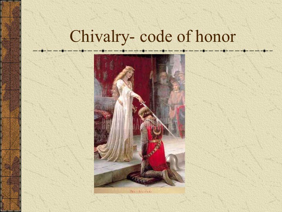 Chivalry- code of honor