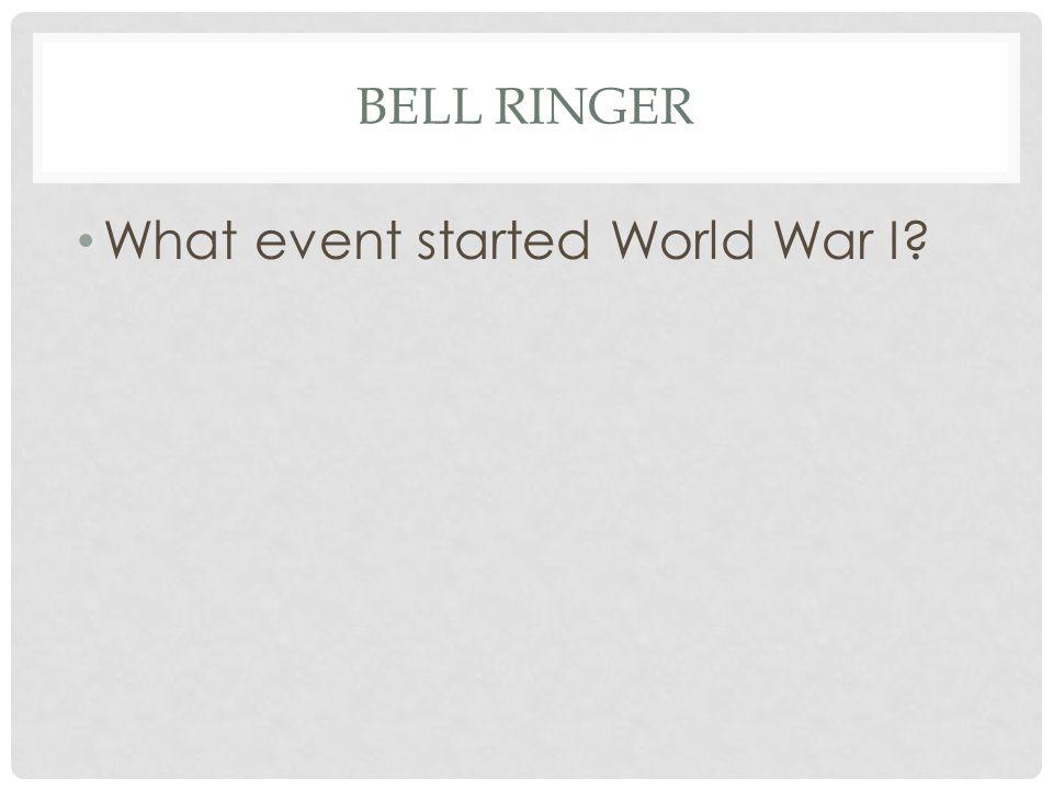 BELL RINGER What event started World War I?