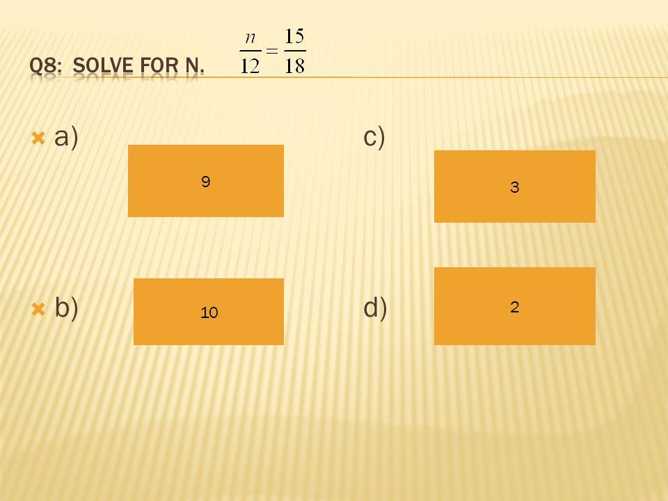 a)c)  b)d) 15 3 72 120
