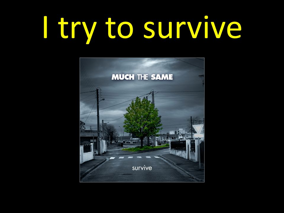 I try to survive