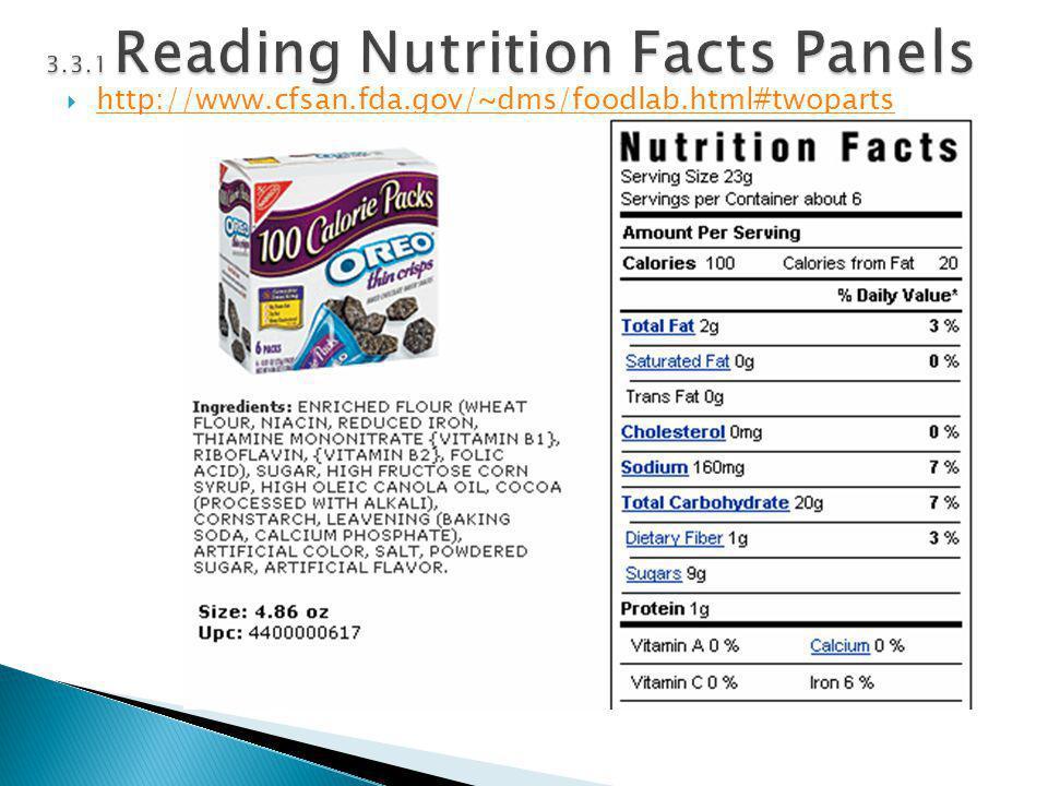  http://www.cfsan.fda.gov/~dms/foodlab.html#twoparts http://www.cfsan.fda.gov/~dms/foodlab.html#twoparts