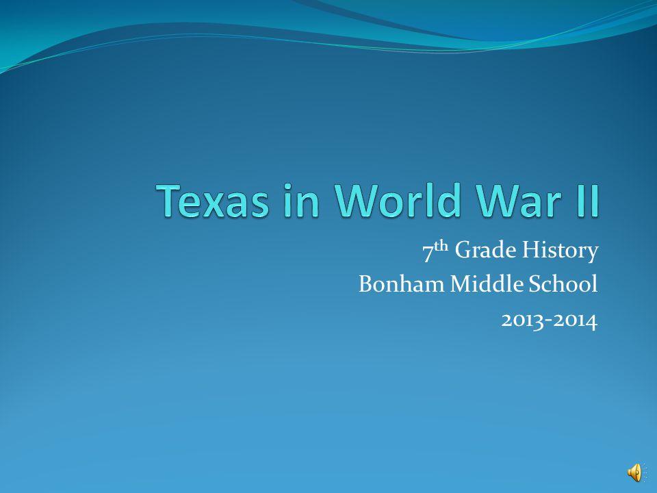7 th Grade History Bonham Middle School 2013-2014