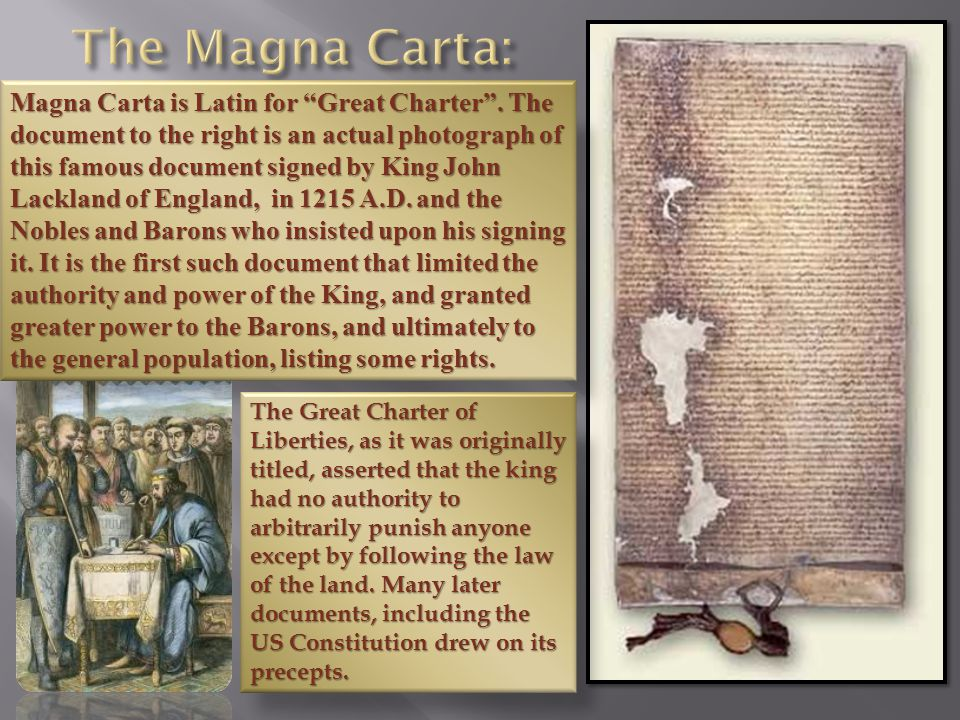 Magna Carta is Latin for Great Charter .