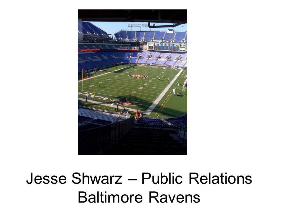Jesse Shwarz – Public Relations Baltimore Ravens