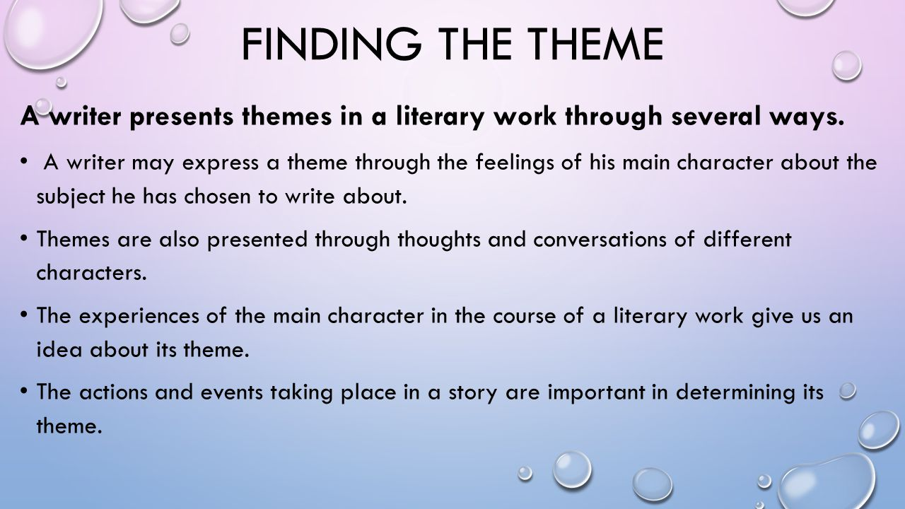 FINDING THE THEME, CONT.Check out the title. Sometimes it tells you a lot about the theme.