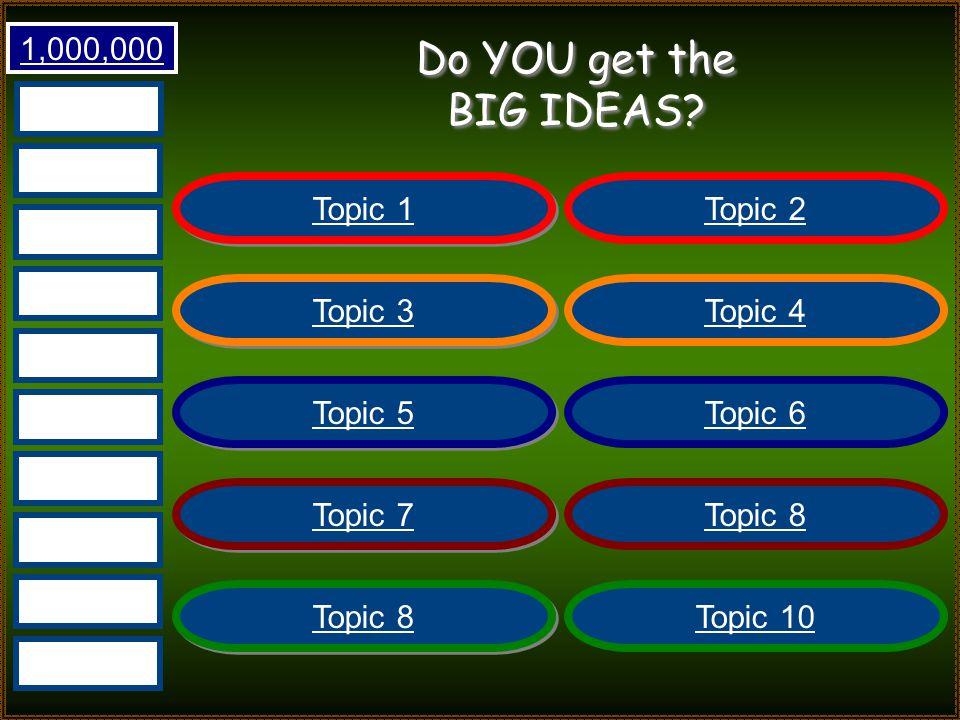 Do YOU get the BIG IDEAS.