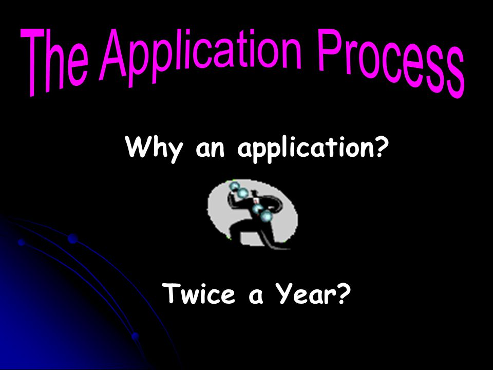 Why an application Twice a Year