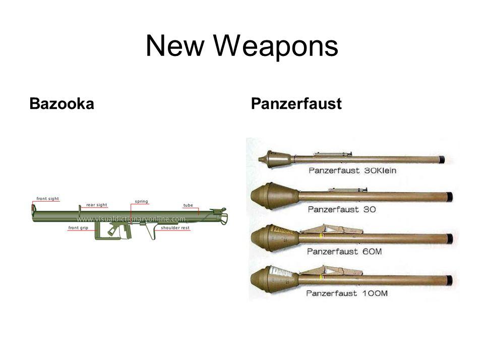 New Weapons BazookaPanzerfaust