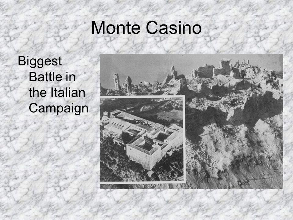 Monte Casino Biggest Battle in the Italian Campaign