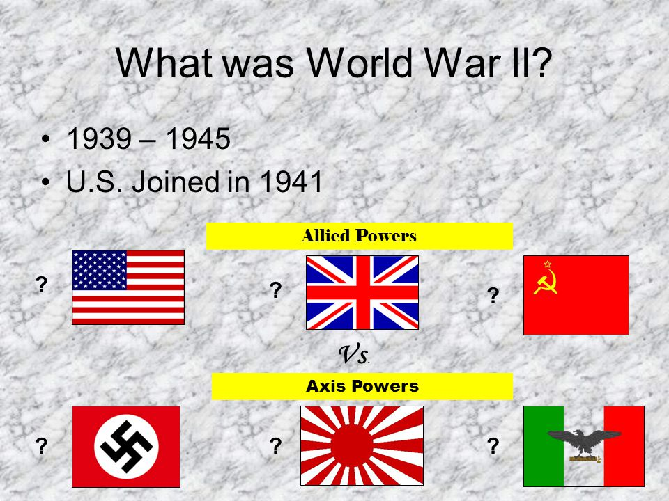 What Caused World War II.