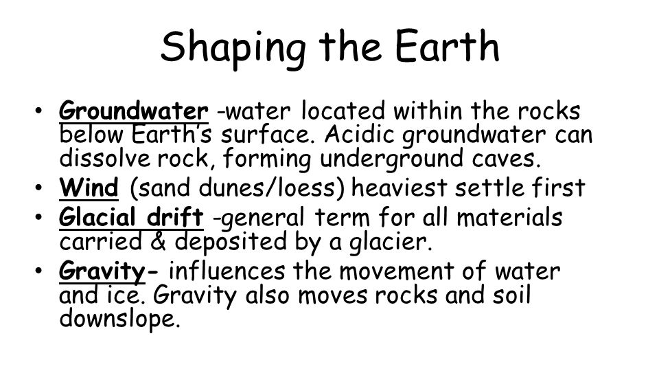The Dirt on Soil Soil - loose mixture of rock fragments, organic matter, water, and air that can support the growth of vegetation.