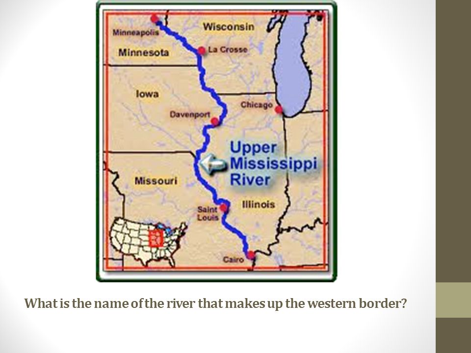 What is the name of the river that makes up the western border?