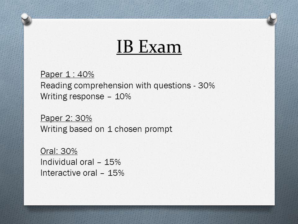 IB Scores 7 = Passing 6 = Passing 5 = Passing 4 = Passing 3 = Not passing 2 = Not passing 1 = Not passing