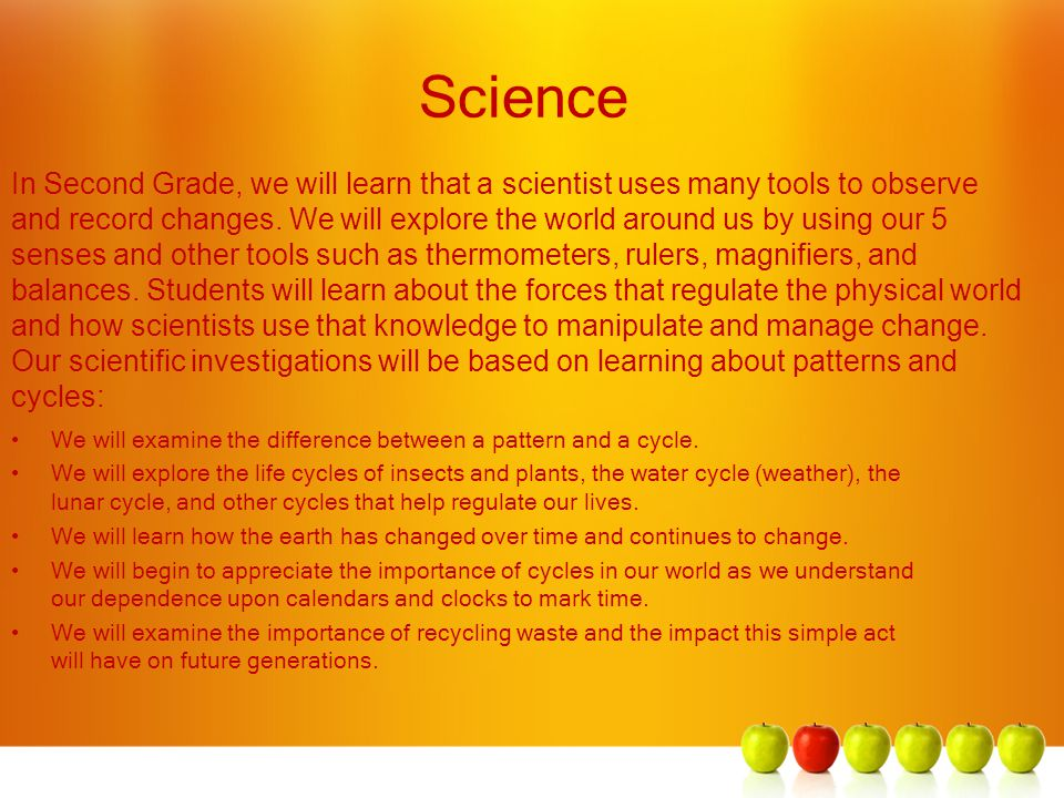 Science We will examine the difference between a pattern and a cycle.