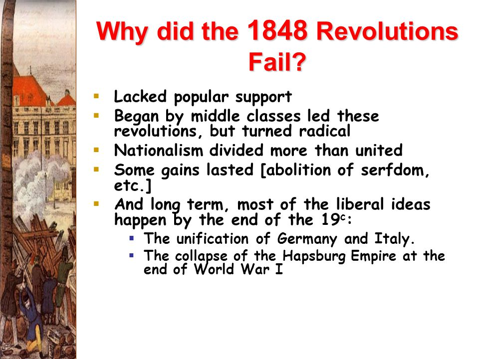 Why did the 1848 Revolutions Fail.