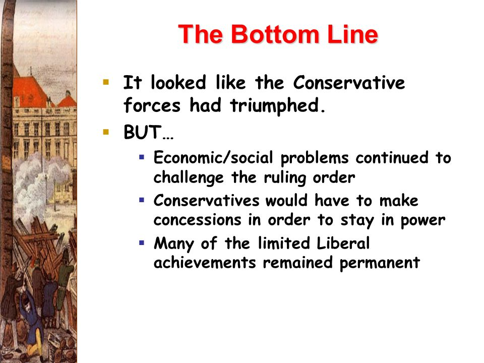 The Bottom Line  It looked like the Conservative forces had triumphed.