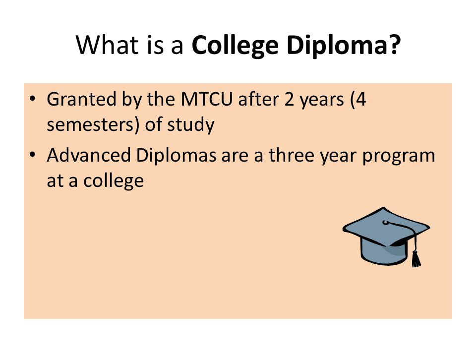 What is a College Diploma.