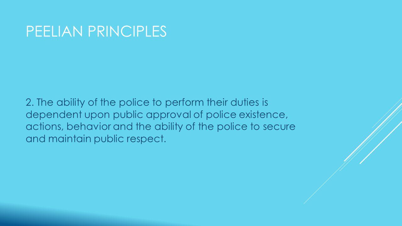 PEELIAN PRINCIPLES 2.
