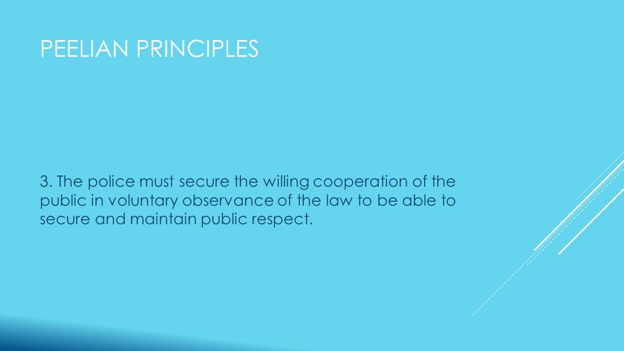 PEELIAN PRINCIPLES 3.