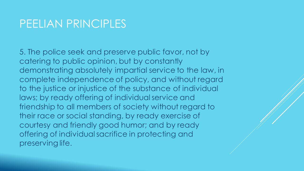 PEELIAN PRINCIPLES 5.