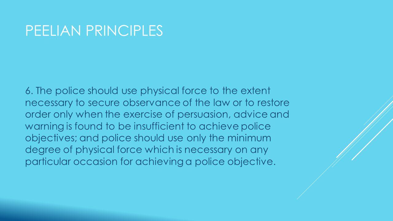PEELIAN PRINCIPLES 6.